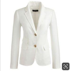 J Crew Schoolboy Linen Blazer White